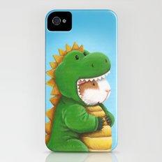 Guinea Pig in a Dinosaur Costume - Peegosaurus Rex Slim Case iPhone (4, 4s)