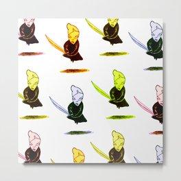 onna-bugeisha colorful Metal Print