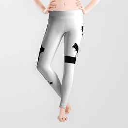 AR15 in black silhouette on white Leggings