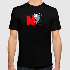 n for narwhal MEDIUM Mens Fitted Tee Black