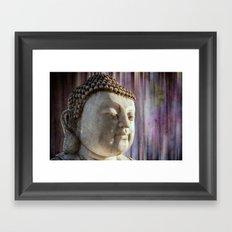 Buddha purple Framed Art Print