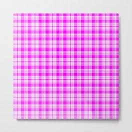 Tartan Pretty Pink Plaid Metal Print
