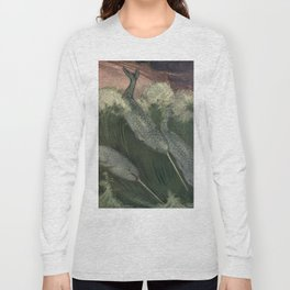 Vintage Narwhal Painting (1909) Long Sleeve T-shirt