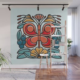 Butterfly tile Wall Mural