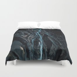 Abstract River in Iceland - Landscape Photography Duvet Cover