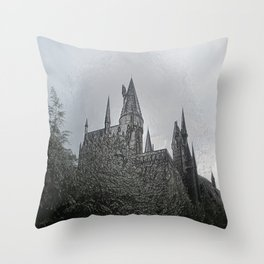 Castle Embossing Throw Pillow