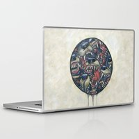 anxiety Laptop & iPad Skins featuring Anxiety by Mallory Hodgkin
