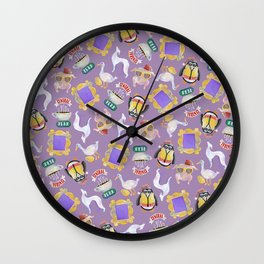 Friends icons Wall Clock