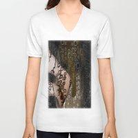 henna V-neck T-shirts featuring Henna by John Hansen