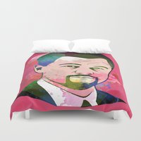 leonardo Duvet Covers featuring Leonardo DI-CAPRIO by BIG Colours