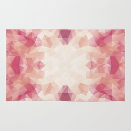 """Protea flower"" triangles design Rug"