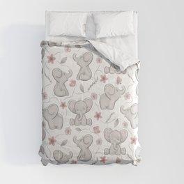 Cute elephants Comforters