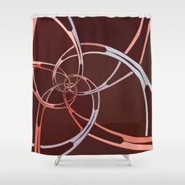 Dark Chocolate Spiral Descent Shower Curtain