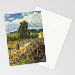 Classical Masterpiece 'Bridge at Old Lyme, Connecticut'' by Frederick Childe Hassam Stationery Cards