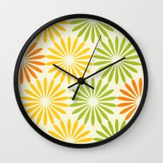 Zesty Burst Wall Clock