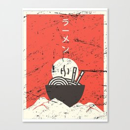 Vintage Japanese Anime Ramen Canvas Print
