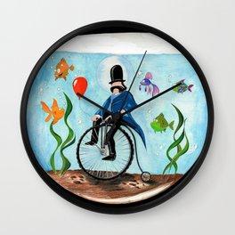 underwater penny farthing Wall Clock