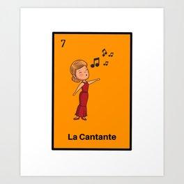 La Cantante Mexican Loteria Bingo Card Art Print