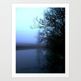 By the lake. Art Print