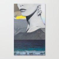 kurt cobain Canvas Prints featuring AWKWARD PHOTOS OF KURT COBAIN by WONDERPULP