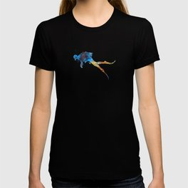Man scuba diver 01 in watercolor T-shirt