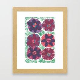 Tropical Blossoms Framed Art Print