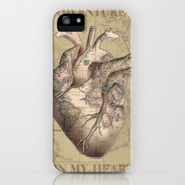adventure heart-world map 3 iPhone Case