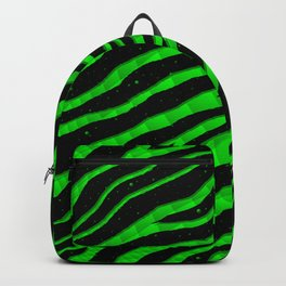 Ripped SpaceTime Stripes - Green Backpack