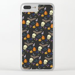 Halloween Skin Clear iPhone Case
