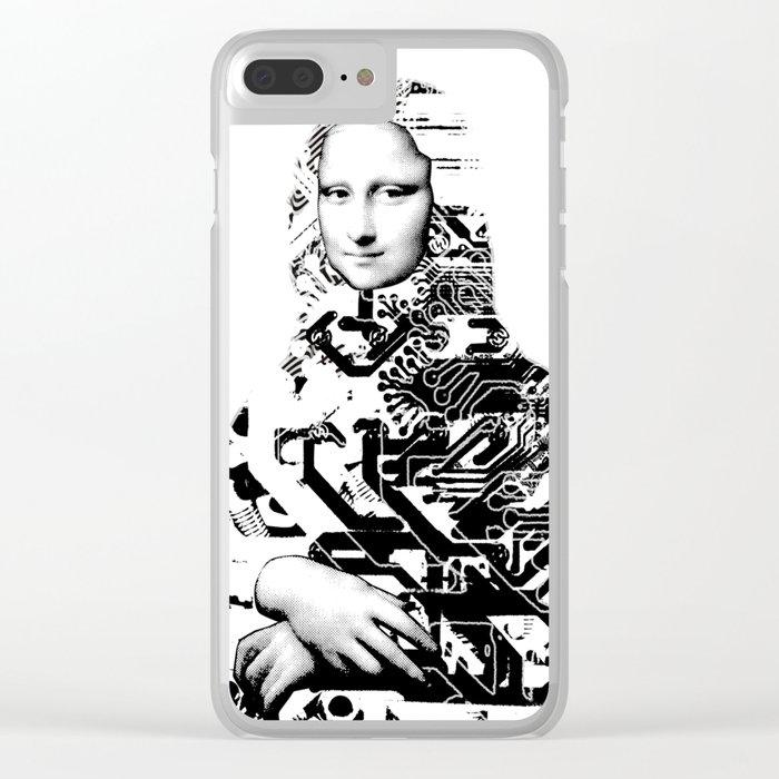Mona Lisa Platina 1 Clear iPhone Case