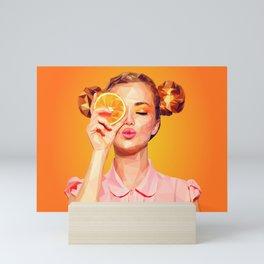 Miss Orange Mini Art Print