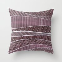 blankets Throw Pillows featuring Pile on the blankets by Laura Lee Gulledge