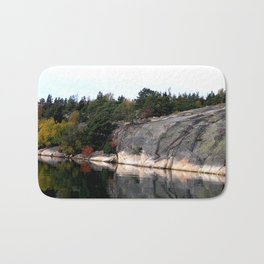 Fall Colors Accentuating Cliff Reflections Bath Mat