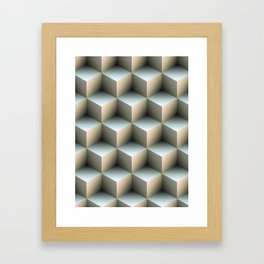 Ambient Cubes Framed Art Print