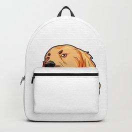 Golden Retriever Christmas Hat Present Dog Doggie Backpack