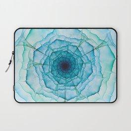 Aqua-green marine flower Laptop Sleeve