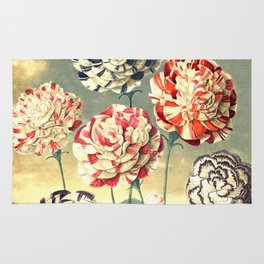 Carnations : New Illustration Of The Sexual System Rug