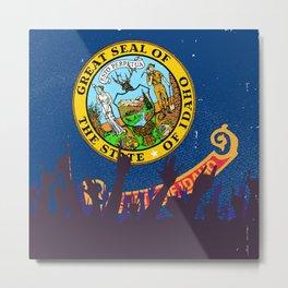 Idaho State Flag with Audience Metal Print