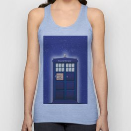 vintage police box starfield Unisex Tank Top