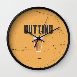 Funny Cutting Chai Tea Hindi Quote Wall Clock