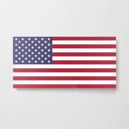 USA flag - Hi Def Authentic color & scale image Metal Print