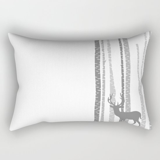 Lonely Deer No. 1 Rectangular Pillow