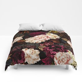 Vintage & Shabby Chic - Midnight Rose and Peony Garden Comforters