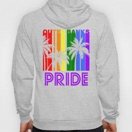 Outer Banks Pride Gay Pride LGBTQ Rainbow Palm Trees Hoody