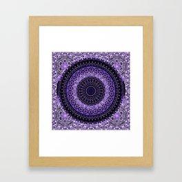 Purple Tapestry Mandala Framed Art Print