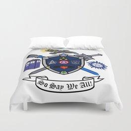 Greek Crest - So Say We All Duvet Cover