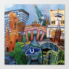 The city of Berlin Canvas Print