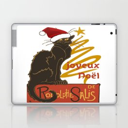 Joyeux Noel Le Chat Noir With Stylized Golden Tree Laptop & iPad Skin