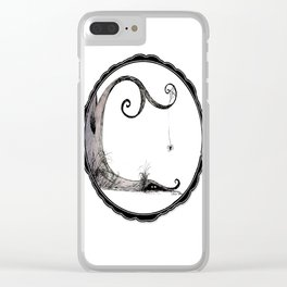 'Think I'll just stay in today' - Familiar and Friend Clear iPhone Case