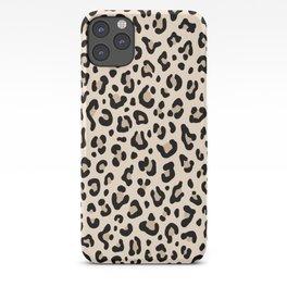 BLACK and WHITE LEOPARD PRINT – Ecru | Collection : Leopard spots – Punk Rock Animal Prints. iPhone Case